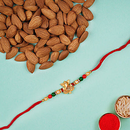 Fancy Ganesha Rakhi With Almonds