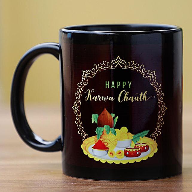 Karwa Chauth Printed Photo Mug Online:Karwa Chauth Sargi to USA