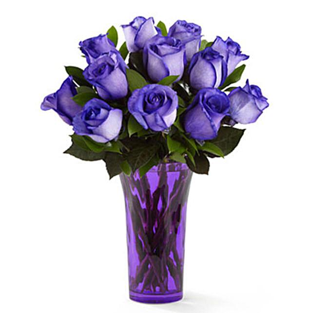 Festive Purple Rose Bouquet