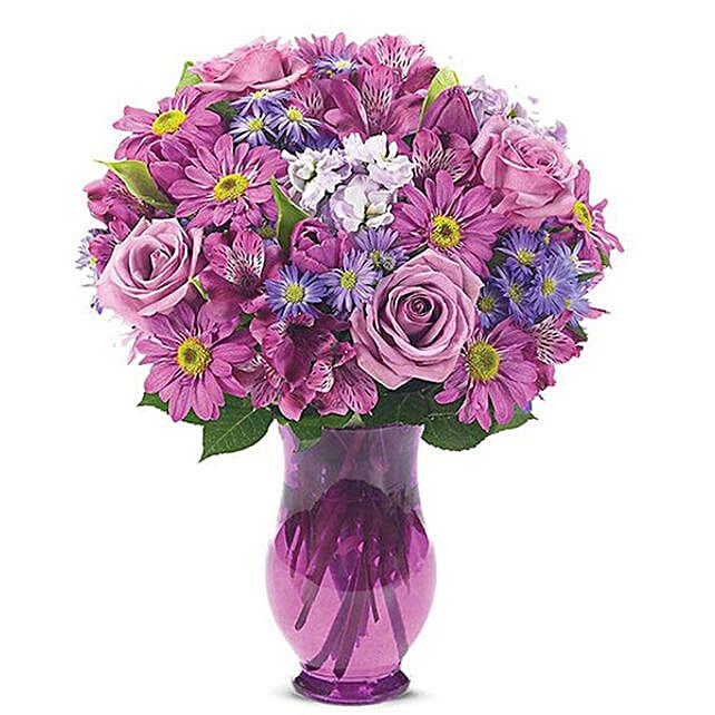 Floral Bliss Mixed Flowers Arrangement