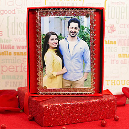 Fridge Magnet Photo Frame With Gift Message:Personalised Gifts to USA