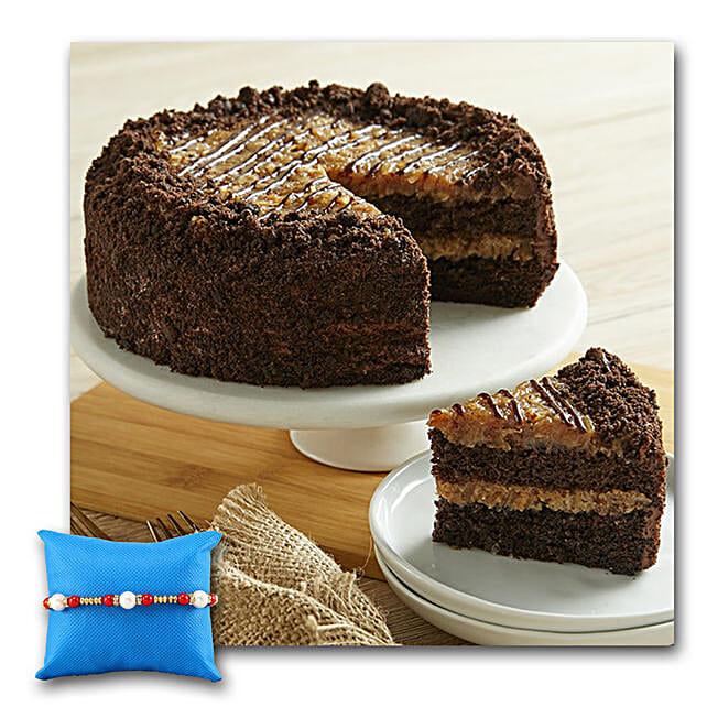 German Chocolate Cake With Rakhi