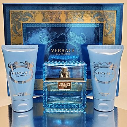 Gift Basket For Men By Versace Eau Fraiche:Premium Gifts Delivery in USA