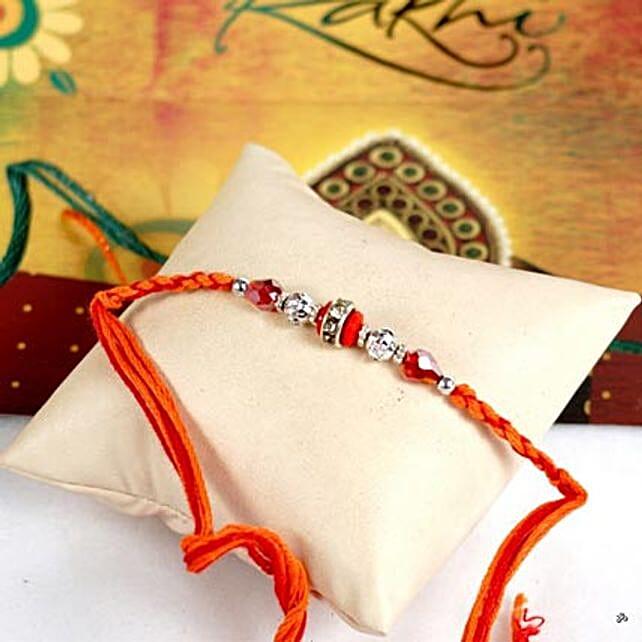 Glittering Maroon Rakhi Thread