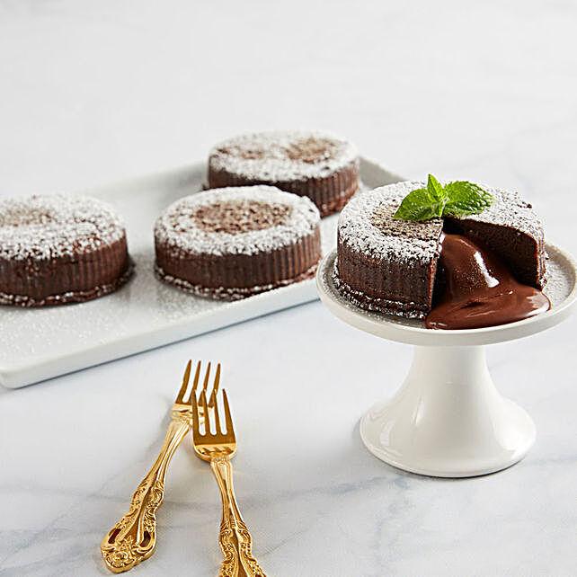 Gluten Free Chocolate Truffle Lava Cakes