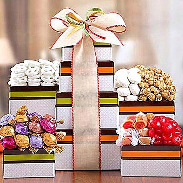 Godiva Truffle, Popcorn and Candy Tower