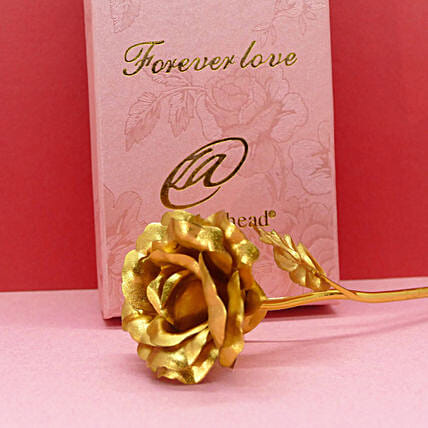 Gold Foil Rose With A Message:Send Roses to USA