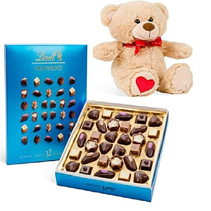 Gourmet Chocolates With Teddy
