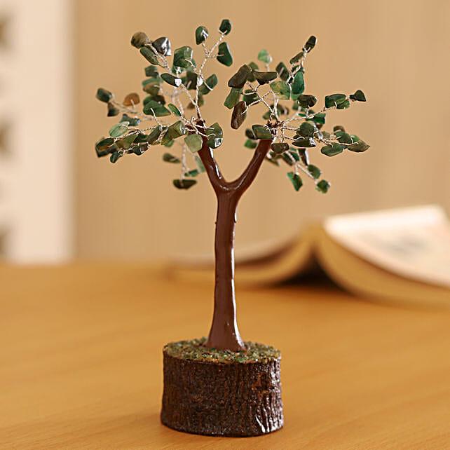 Green Aventurine Gemstone Wishing Tree 7 Inch