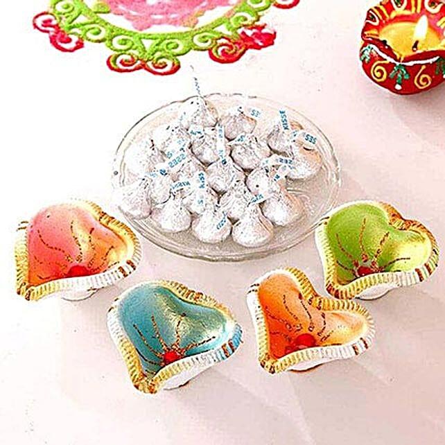 Hersheys Kisses Chocolate N Beautiful Clay Diya Set