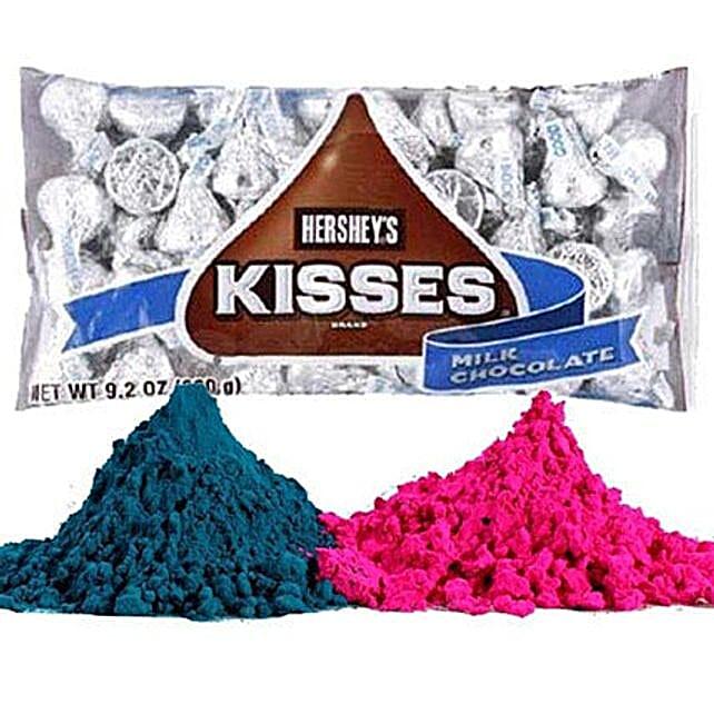 Hersheys Kisses with Holi Gulal