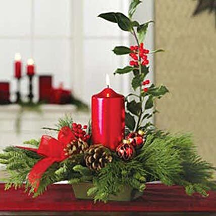 Holly Christmas Centerpiece:Flower Delivery USA