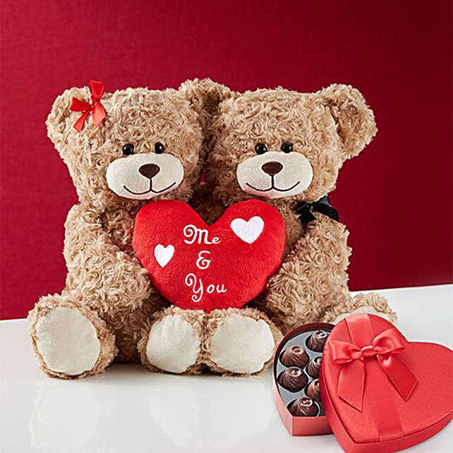 Honey Teddy Bear Pair