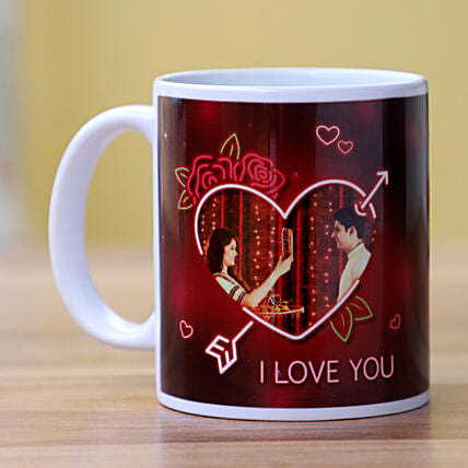 Online Photo Mug for Couple:Personalised Gifts to USA from India