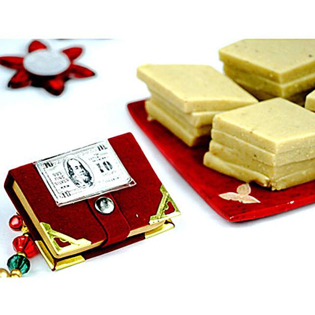 Kaju Katli and Silver Dollar Biscuit