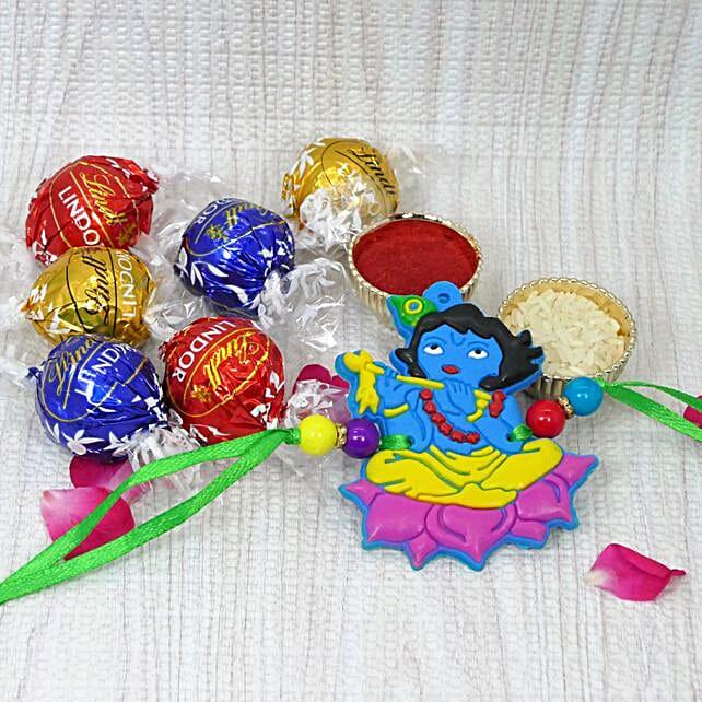Krishna Rakhi With Lindt Lindor Assorted Chocolates