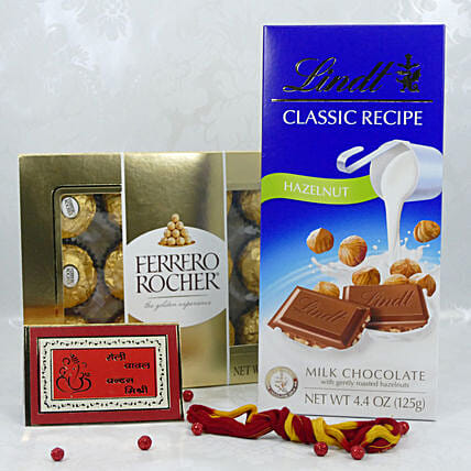 Lindt And Rocher Combo For Bhai Dooj