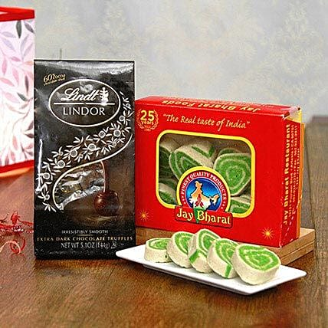 Lindt Chocolate Truffles with Pista Cassata Roll