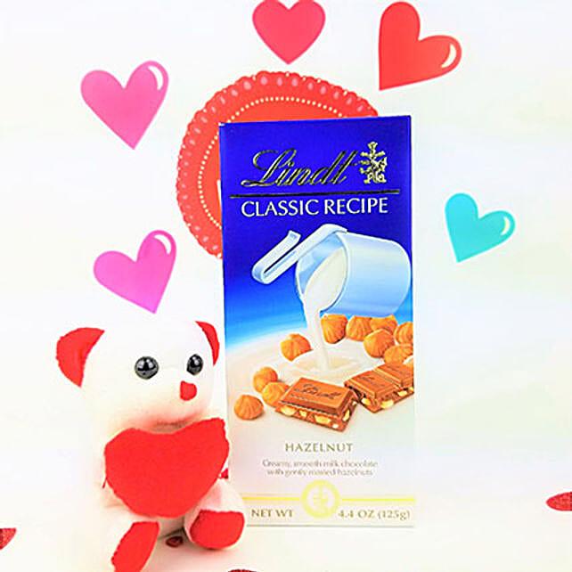 Lindt Chocolates N Teddy Combo