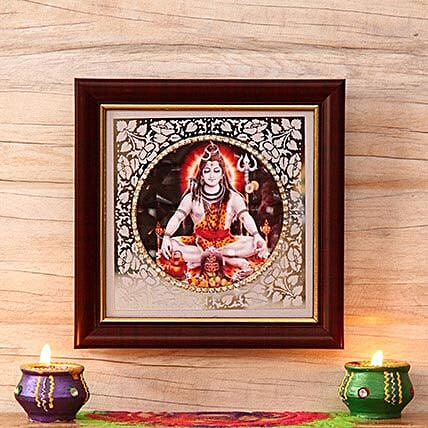 Lord Shiva Wooden Frame