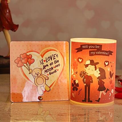 Love Couple Hollow Candle:Gifts to USA
