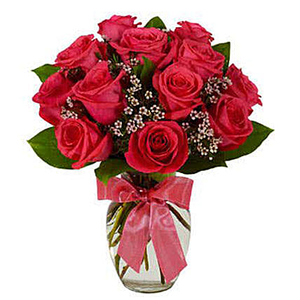 Luxury Hot Pink Roses Bouquet