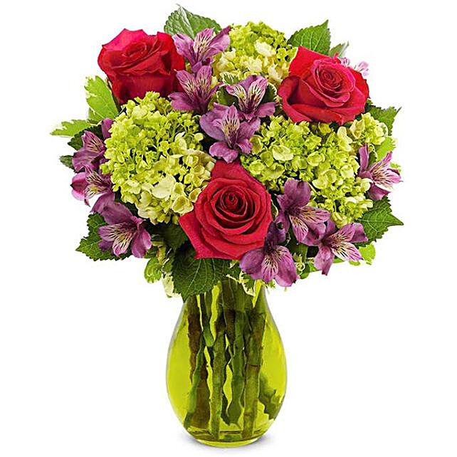 Magnificent Mixed Flowers Arrangement
