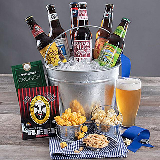 Microbrew Beer Bucket N Snacks