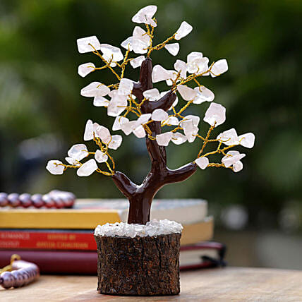 Mini Rose Quartz Wishing Tree Combos:Home Decor Gifts in USA