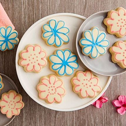 Mothers Day Flower Cookies