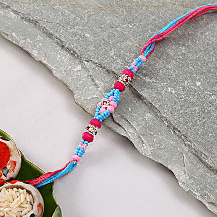 Multicolor Beads Rakhi