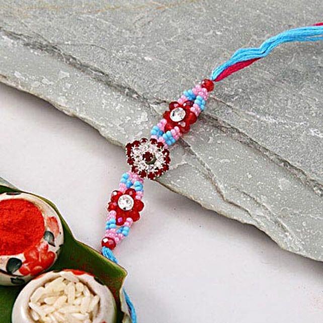 Multicolor Stone Rakhi