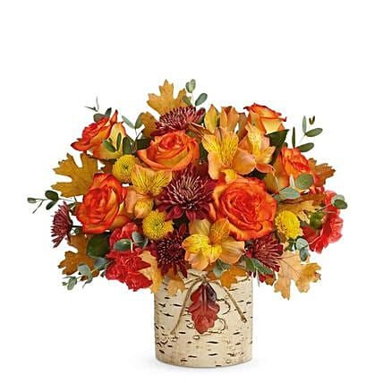 Orange Thanksgiving Birch Bouquet