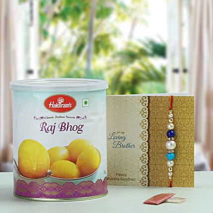 Pearl Rakhi with Rajbhog