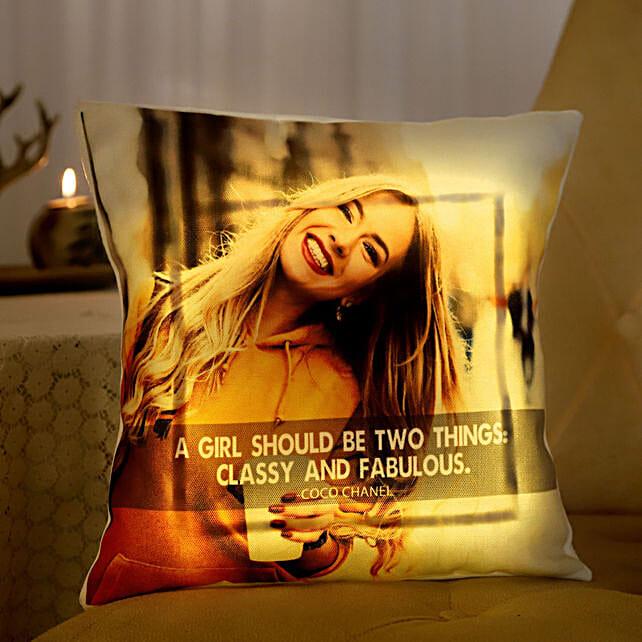 Premium LED Photo Cushion For Women's Day