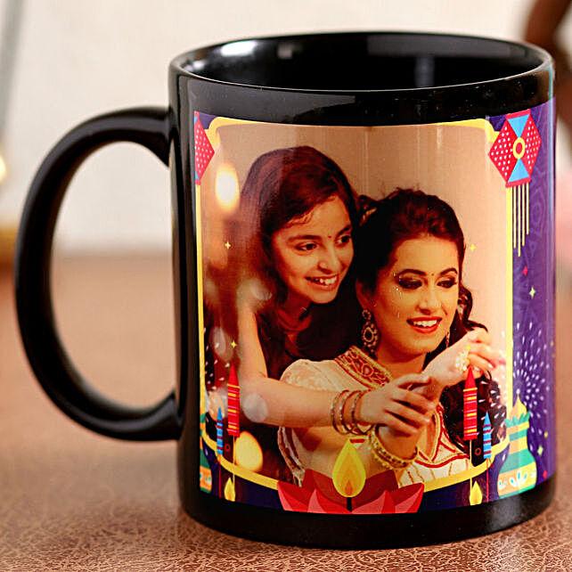 diwali printed mug for her