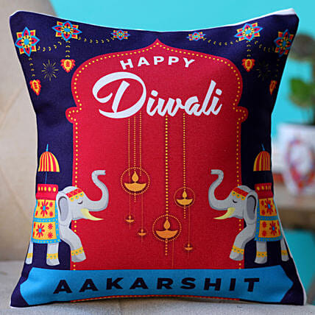 online printed cushion for diwali
