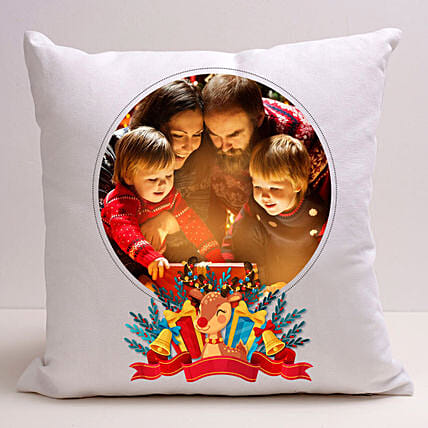 Personalised Joyful Holidays Cushion