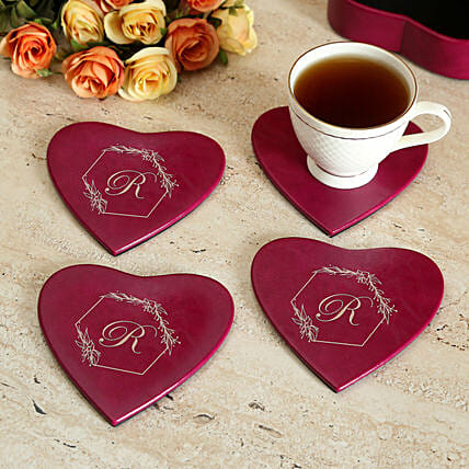 Personalised Love Coaster Set of 4