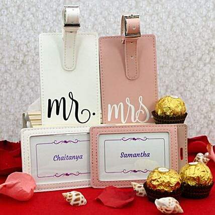 Personalised Luggage Tags And Chocolates