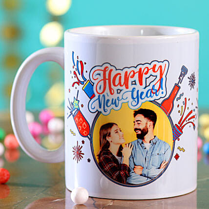 Personalised Picture Happy New Year Mug:New Year Gifts to USA