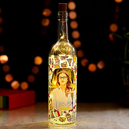 Personalised Picture LED Bottle Lamp