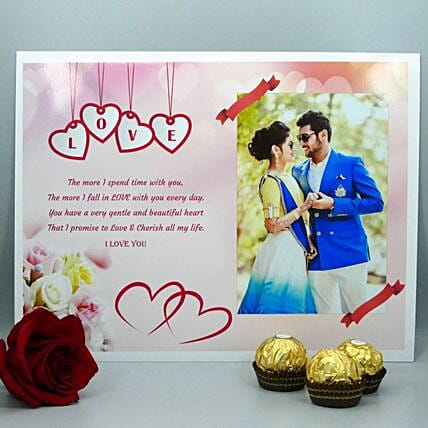 Personalised Poster With Magnets And Chocolates