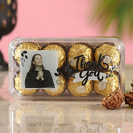 Personalised Thank You Ferrero Rocher Delight Box