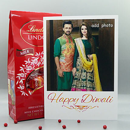 Personalized Card And Lindt For Diwali