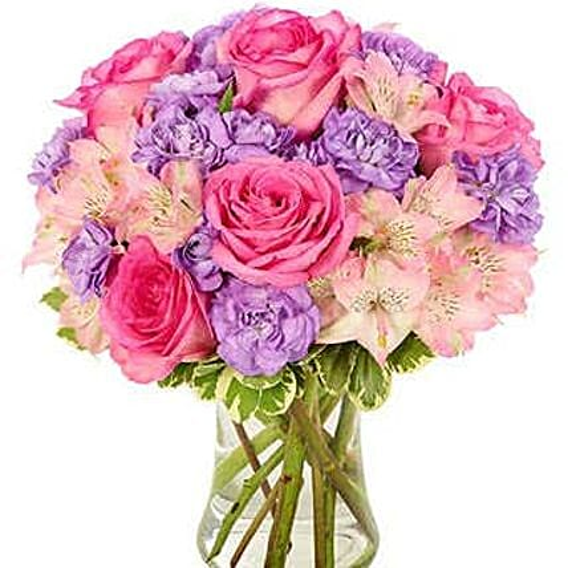 Pink Champagne Flower Vase