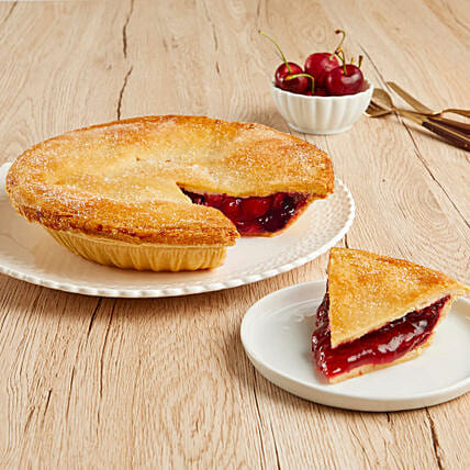 Plump Cherry Pie And Greeting Card