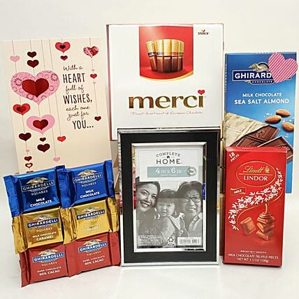 Premium Chocolate Collection And Photo Frame Combo