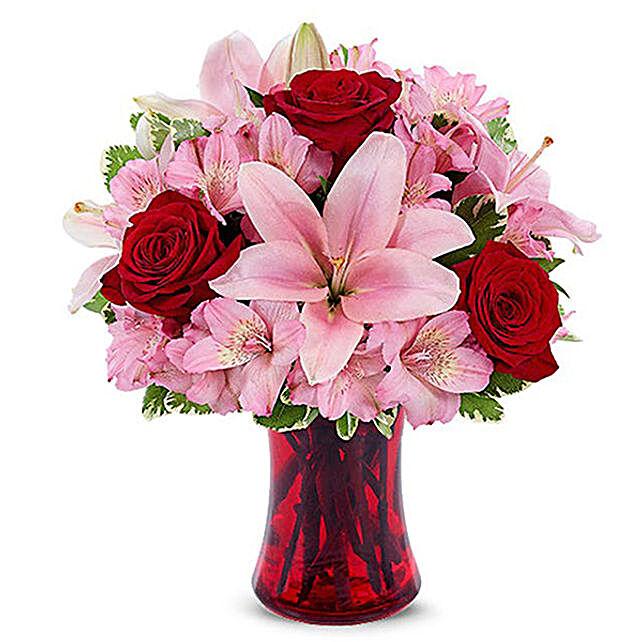 Premium Mixed Flowers Arrangement