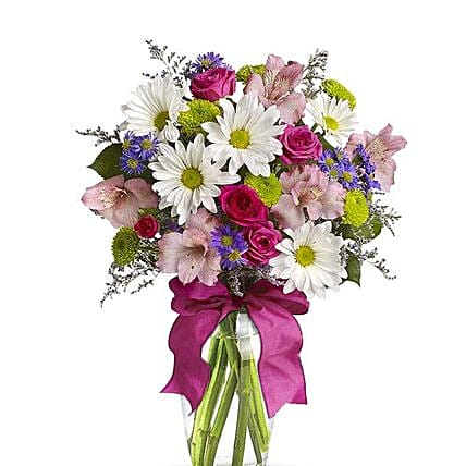 Pretty Flower Vase:Send Mixed Flowers to USA